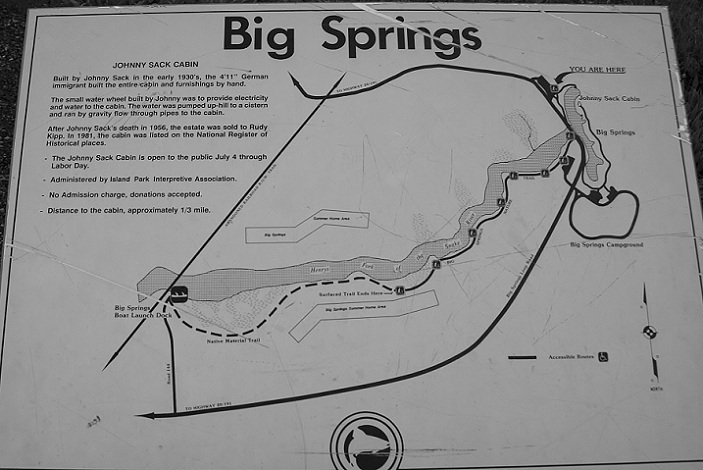 This map show the area around Big Springs.