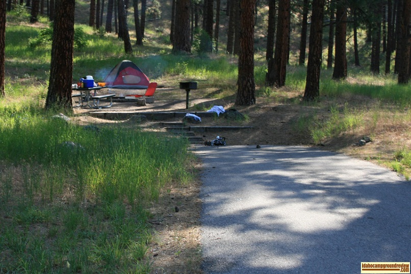 Hot Springs Campground on the South Fork of the Payette River.