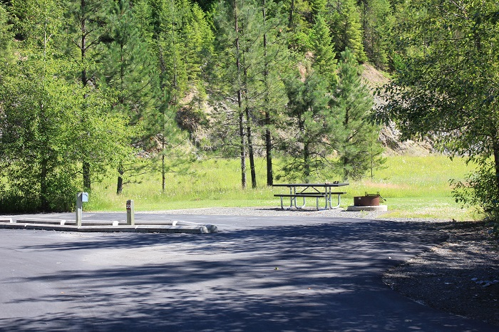 Huckleberry Campground on the St Joe River in northern Idaho.