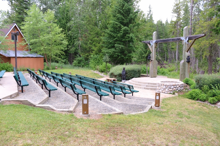The amphitheater is also located next to the visitors center.