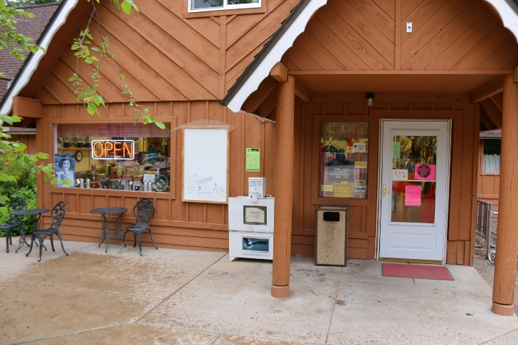 This the store at Indian Creek where you can buy many of the supplies you may run out of. We had to buy an ice cream cone.
