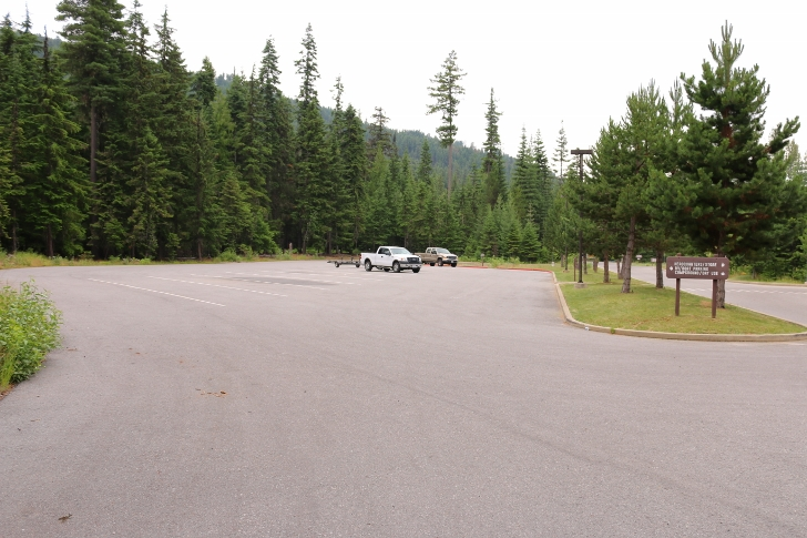 This parking area is across the road from the visitor center.