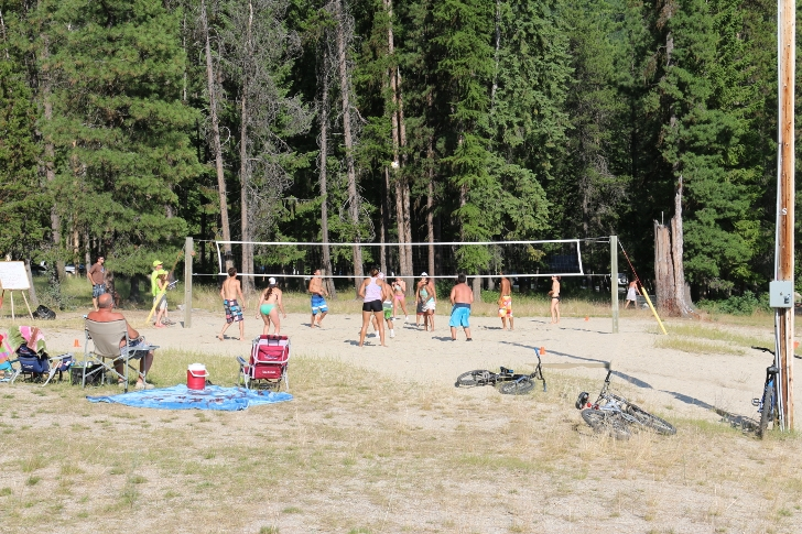 We enjoyed watching an organized volleyball tourney including campers who had signed up.