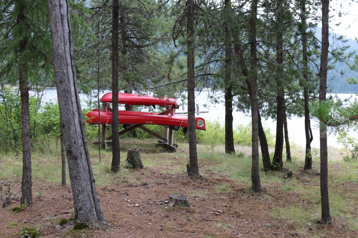 You may rent a canoe from the park, these are kept near the picnic area.