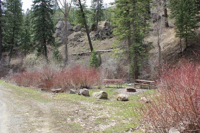 Paradise Campground on Mann Creek north of Weiser, Idaho.
