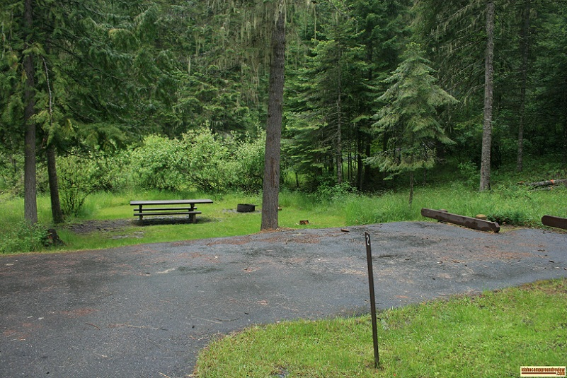 Camping Site#2 Laird Park Campground east of Potlatch, princeton and harvard, idaho