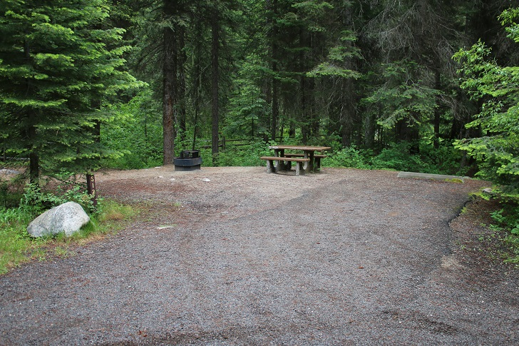Campsites in Lastchance Campground.