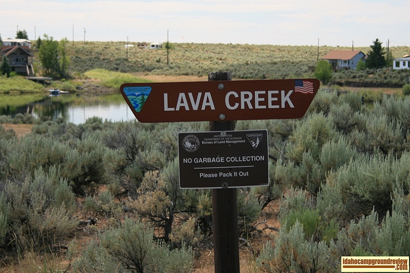 Lava Creek Campground on Magic Reservoir.