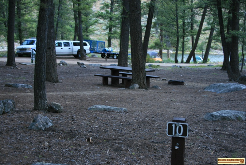 This is site #10 which is right in the middle of Lower O'Brien Campground.
