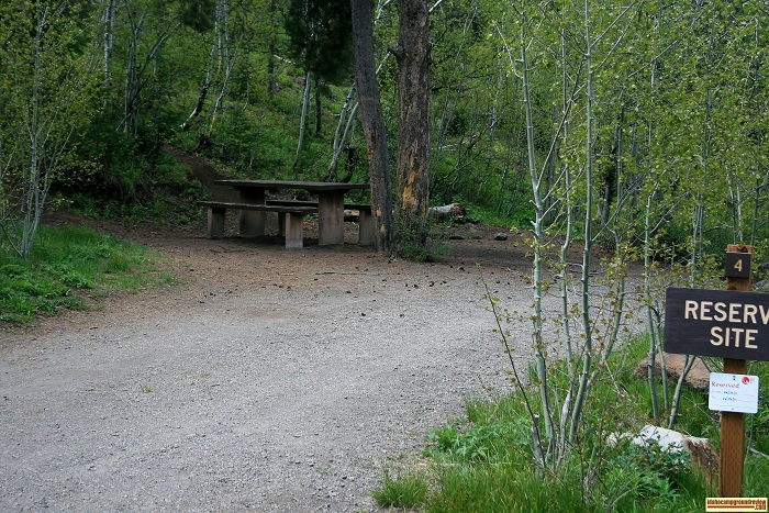 Campsite #4 in Lower Penstemon Campground.