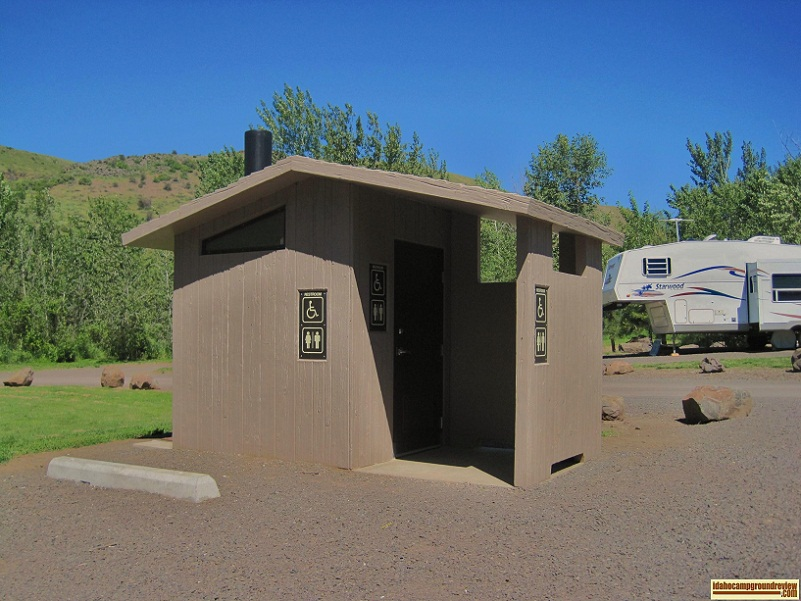 View of Mann Creek  Campground outhouse