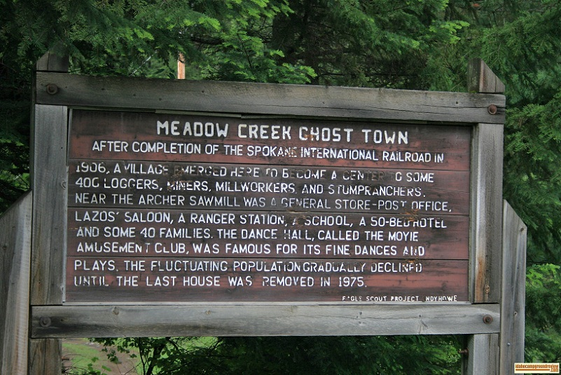 Meadow Creek Campground in the Kaniksu National Forest
