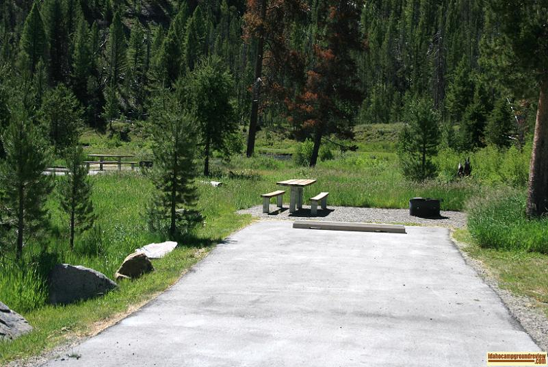 These RV camping sites are right by the Salmon River in Mormon Bend Campground.