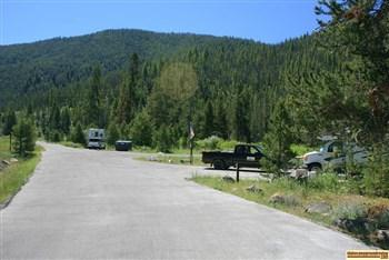 Picture of the hosts sites in Mormon Bend Campground, are