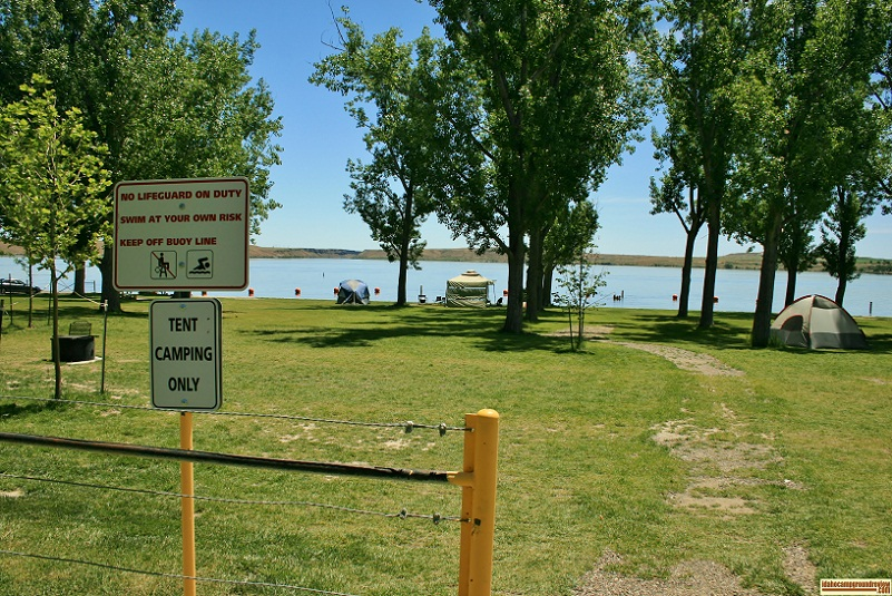 North Park also has a tent only camping area between the swimming area and the day use area.