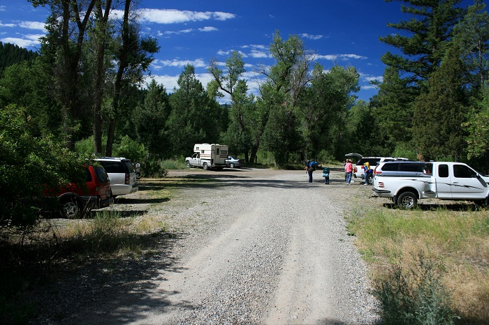 Palisades Creek Trailhead parking.