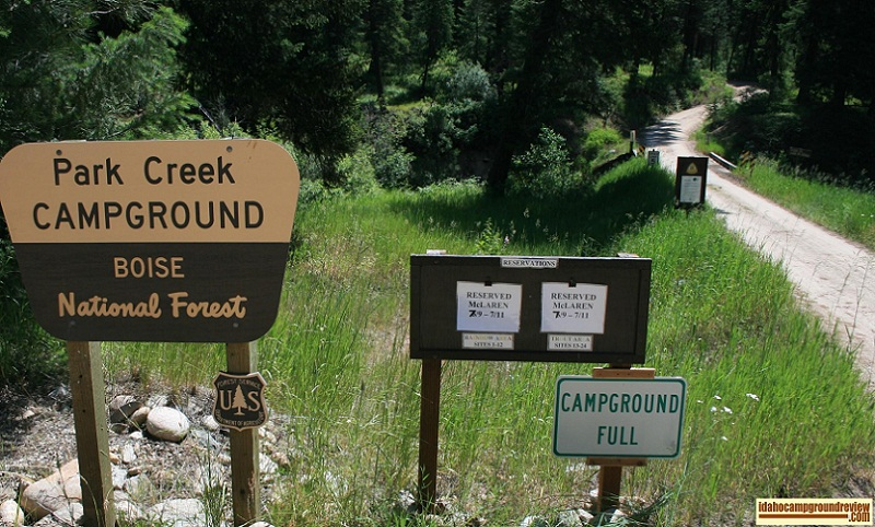 Park Creek Campground near Lowman, Idaho.