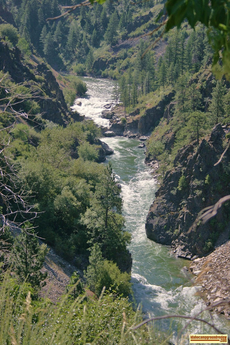 Big Falls on the South Fork of the Payette River near Pine Flats Campground