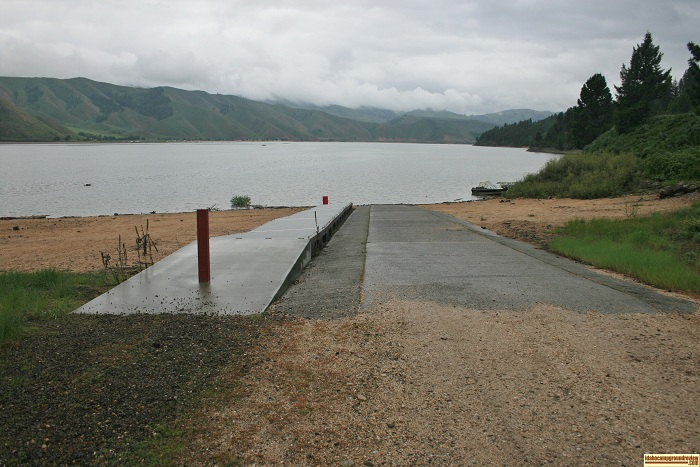 Pine Recreaton Site boat ramp and dock for those who love camping in Idaho.