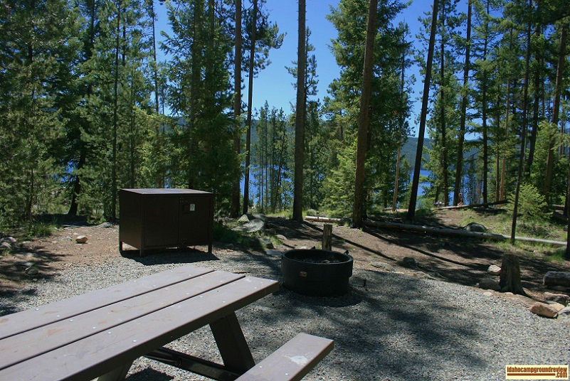 Point Campground and Day Use area on Redfish Lake