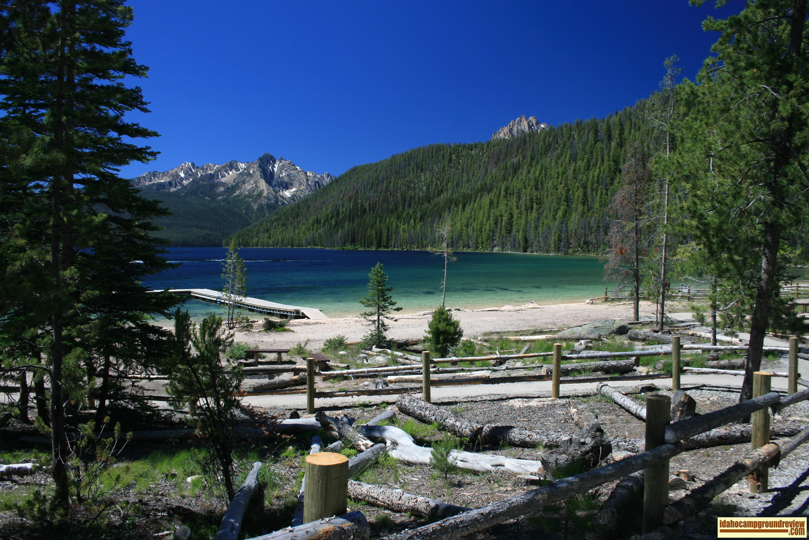 ... Point Campground and Day Use area on Redfish Lake ...