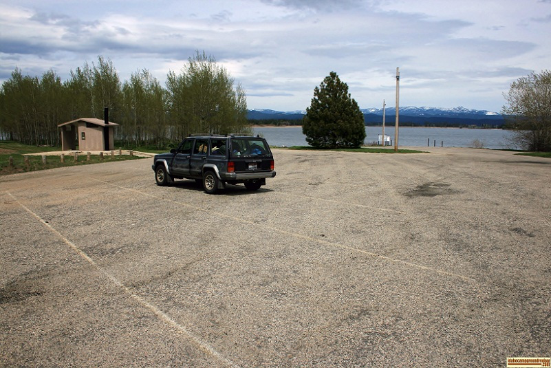 The boat ramp area at Poison Creek Campground