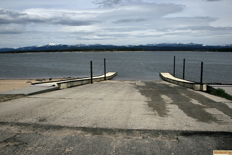 the boat ramp at Poison Creek Campground