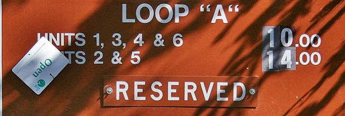 This is the sign at the entrance to Loop