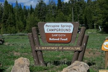This is the sign at the entrance to Porcupine Springs Campground.