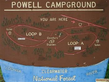 Powell Campground Lochsa River Camping And Fishing