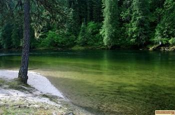 The Selway River left this beautiful white sand beach at Race Creek Campground.