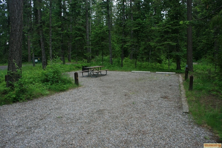 Typical RV camping site in Riley Creek Recreation Area.