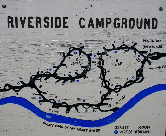 Riverside Campground on Henry's Fork.