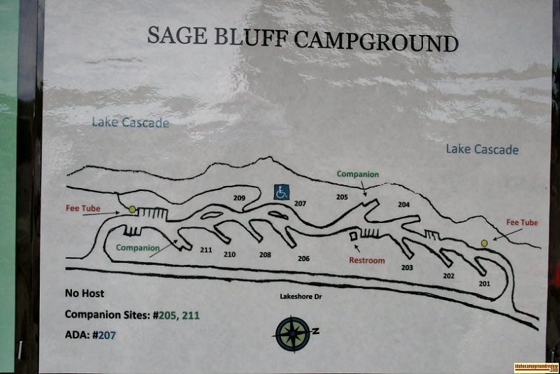 Sage Bluff Campground a camping loop in Lake Cascade State Park.