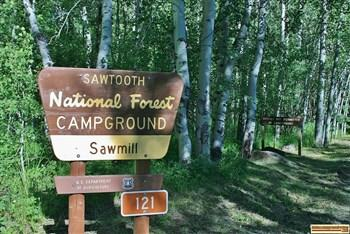Sawmill Campground on the East Fork of the Big Wood River