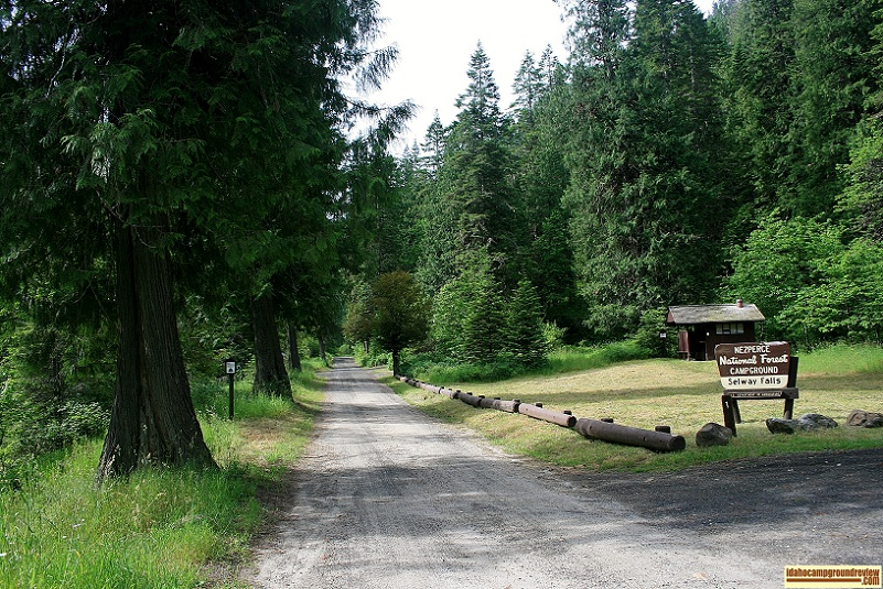 Selway Falls Campground.