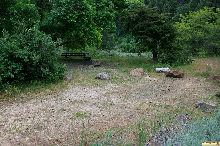 This is a view of the first of three camping sites.