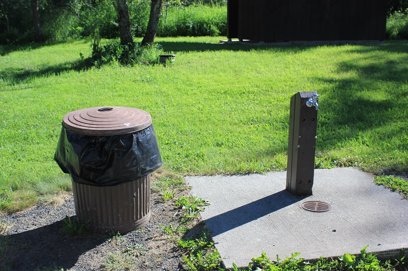There is a pressurized water system and garbage available throughout the campground.