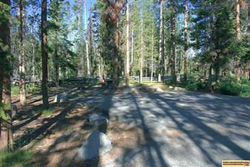 A site at Sheep Trail Campground.