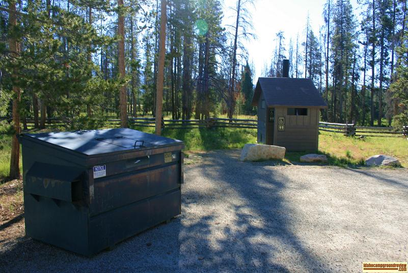 As you can see there is garbage service in Sheep Trail Campground.