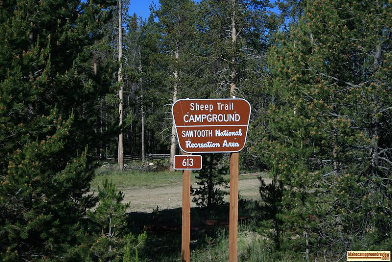 The sign at Sheep Trail Campground.