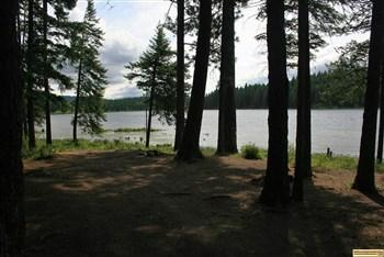 This is one of the nicer sites at Shepherd Lake Access camping area.