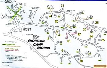 Map of Shoreline Campground