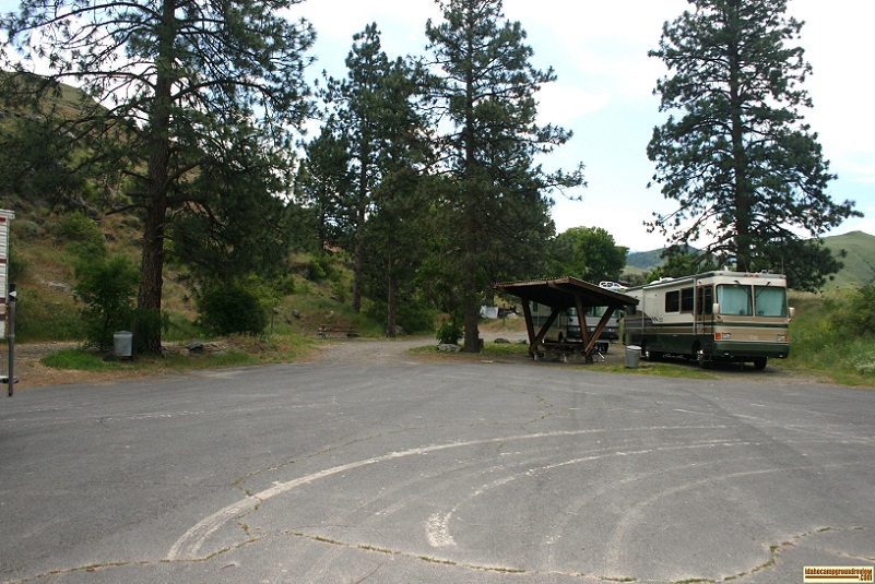 view of camp sites near the boat ramp
