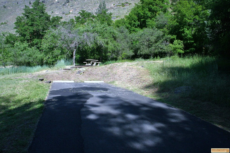 RV site in spring bar campground