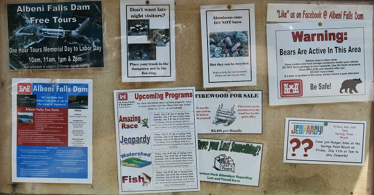 Springy Point Recreation Area - Signs and Info