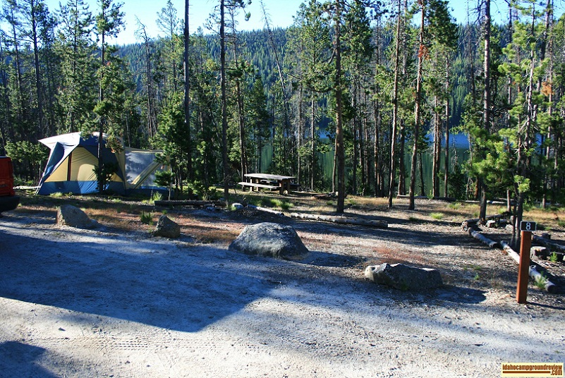 Stanley Lake Campground on Stanley Lake