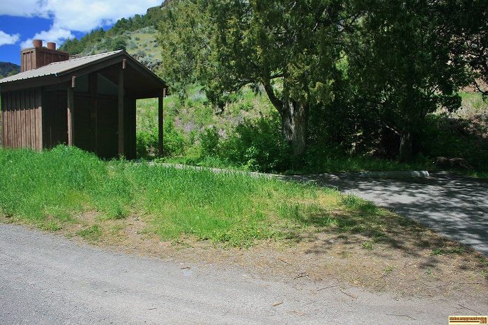Steer Basin Campground has a vault style outhouse.