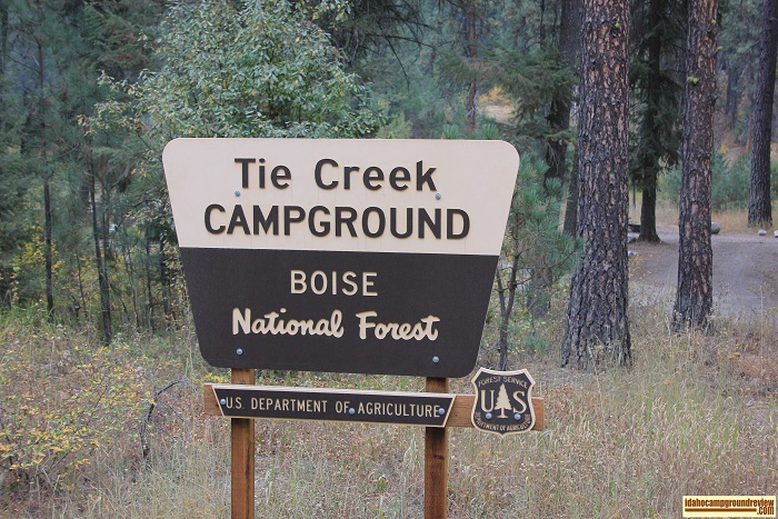 Tie Creek Campground on the Middle Fork of the Payette River in Idaho.