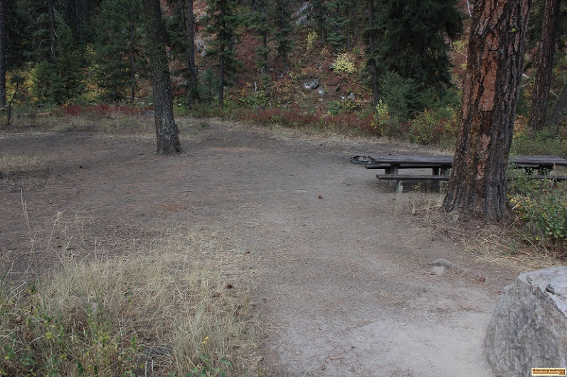 Trail Creek Campground on the Middle Fork of the Payette River.